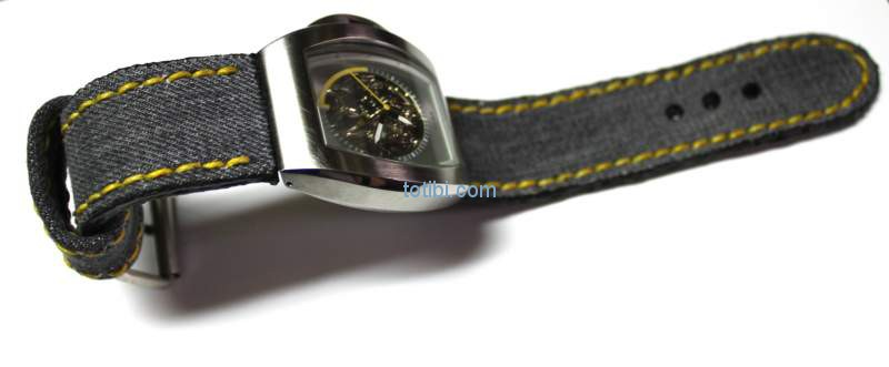 Ремешок для часов из джинсовой ткани своими руками