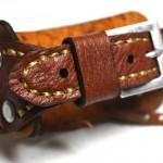 IMG_5317 (Ремешок из оранжевой кожи ручной работы для часов Fossil  JR-9641)