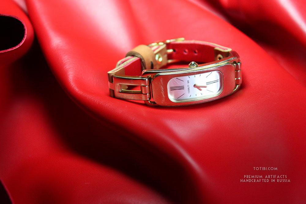 золотые часы женские чайка с браслетом