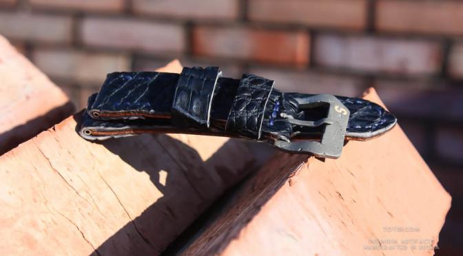 крокодиловый брутслальный ремешок для часов panerai с матовой застежной отлитой из высокопрочной стали с керамической буквенной вставкой
