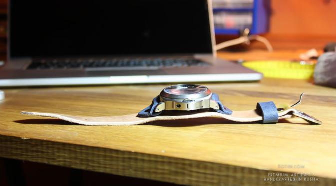 Ремешок ручной работы для часов Panerai PAM Marina Militari Titanium в титановом корпусе