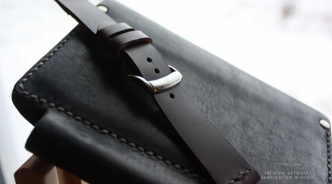 ремешок ручной работы для часов Baume & Mercier из высококачественной кожи лошадиного крупа shell cordovan, сделан вручную в москве с доставкой по России и миру.
