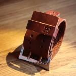 Широкий надёжный ремешок для часов ручной работы. Сделан в Москве с душой. Такой можно сшить для любых часов.