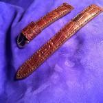 Крокодиловый ремешок ручной работы для часов Maurice lacroix сшит в Москве на заказ доставка по России и миру.
