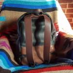 Полностью кожаный рюкзак ручной работы. Из лошадиной кожи Horween. Ручная седельная строчка. Доставка по Москве, России и Миру.