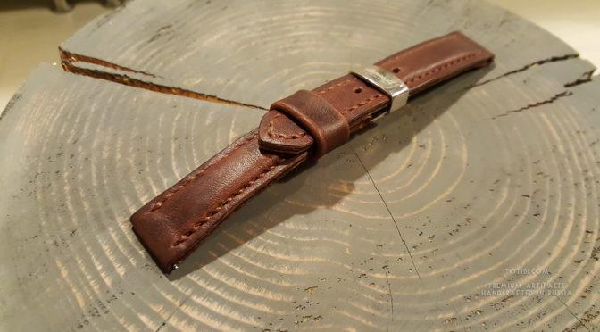 Качественный часовой ремешок ручной работы для часов Ника, выполнен на заказ в мастерской промышленного дизайна Totibi