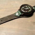 Широкий ремешок ручной из высококачественной лошадиной кожи для часов Nikon. Такой можно сшить для любых часов.