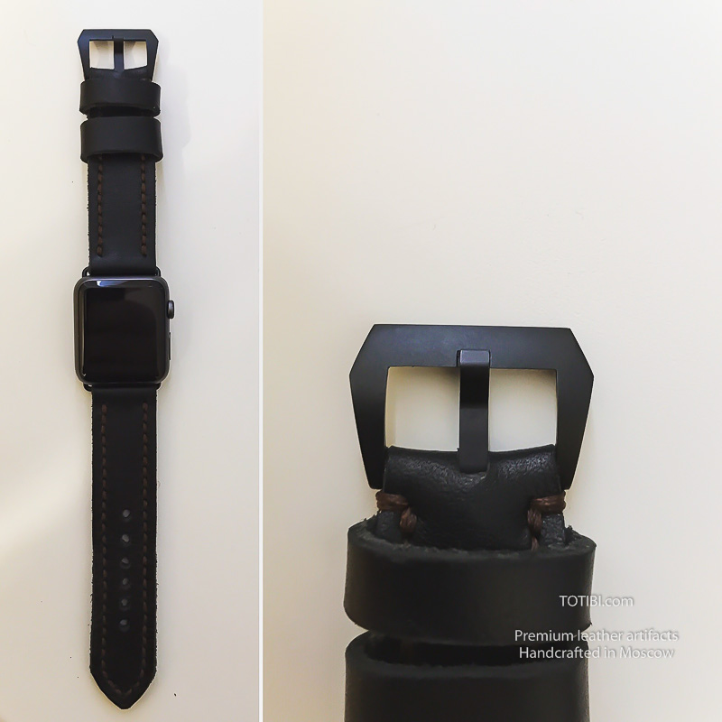 Ремешок для эппл вотч ручной работы сделан на совесть с душой в студии Тотиби.