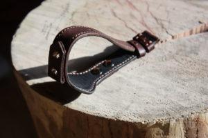Широкий ремешок для раритетных серебряных часов. Сделан в Москве по индивидуальным размерам.