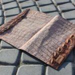 Папка из крокодиловой кожи для документов на подпись. Сделано вручную в москве из кожи аллигатора и крокодила растительного дубления.