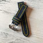 Ремешок ручной работы из джинсовой ткани для часов Mexx, сделан вручную в Москве чтобы служить долго и каждый день радовать.