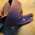 Винтажный ремень для джинс из прочной однослойной кожи с пряжкой totibi из стали и латуни.