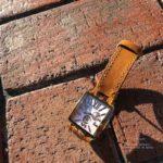 Ремешок ручной работы для часов Cerutti из рыжей лошадиной кожи