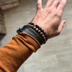 Минималистичный мягкий браслет из высококлассной итальянской кожи. Не нужно снимать работая за ноутбуком, поскольку он мягкий и не стесняет руку. Использована массивная кобурная застежка. Сделан и прошит вручную, чтобы служить долго и каждый день радовать.