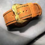 Широкий ремешок ручной работы из винтажной лошадиной кожи с латунной фурнитурой и застежкой ручной работы для часов Panerai PAM 00238 PAM 238