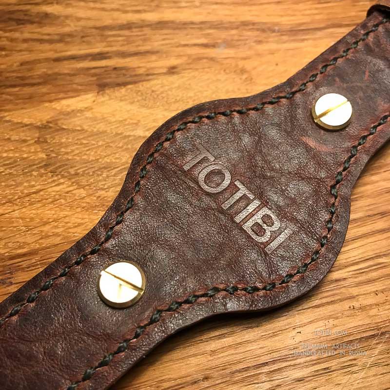 meet d0083 02632 Широкий ремешок ручной работы из винтажной лошадиной кожи с ...