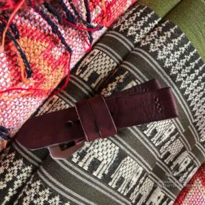 Ремешок ручной работы для часов Panerai PAM из толстой однослойной кожи винтажный коричневый
