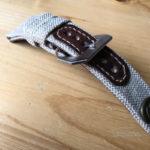 Ремешок ручной работы из канваса холстины для часов Panerai сделан в Москве с доставкой по России
