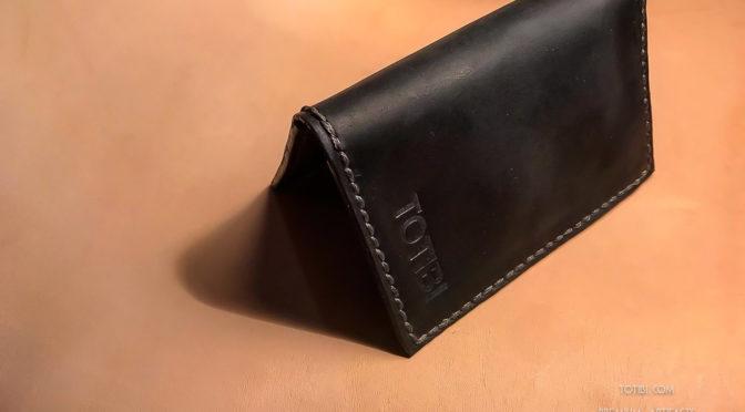 Мини кошелёк для карт и наличных из высококлассной вощёной кожи сделан в Москве доставка по России и миру.