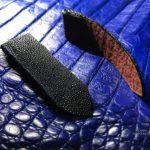 Ремешок из акулы и ската для часов Cartier Santos 100 сделан в Москве