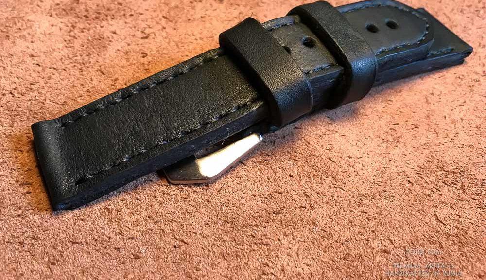 Ремешок ручной работы для Panerai с застежкой из брашированной стали