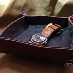 Кожаный поднос коробочка для ключей и часов в коридор или прикроватный столик ручная работа Москва, доставка по России и миру
